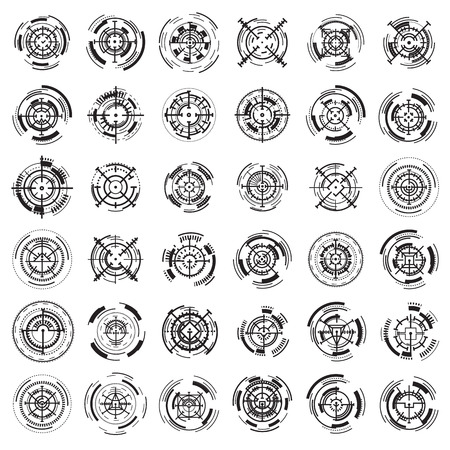 Crosshair icons set. Simple set of crosshair icons for web design on white background