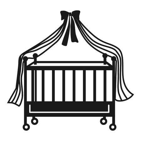 Cot icon. Simple illustration of cot icon for web design isolated on white background 写真素材