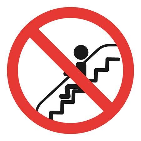 Do not sit escalator icon. Simple illustration of do not sit escalator icon for web design isolated on white background