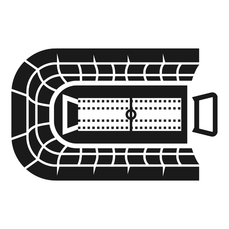 Rugby arena icon. Simple illustration of rugby arena icon for web design isolated on white background