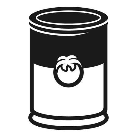 Aluminum can of jam icon. Simple illustration of aluminum can of jam icon for web design isolated on white background Reklamní fotografie