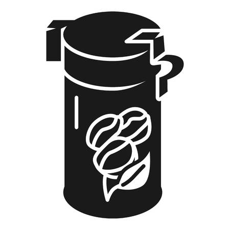 Aluminum coffee can icon. Simple illustration of aluminum coffee can icon for web design isolated on white background Reklamní fotografie