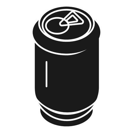 Aluminum soda can icon. Simple illustration of aluminum soda can icon for web design isolated on white background Reklamní fotografie