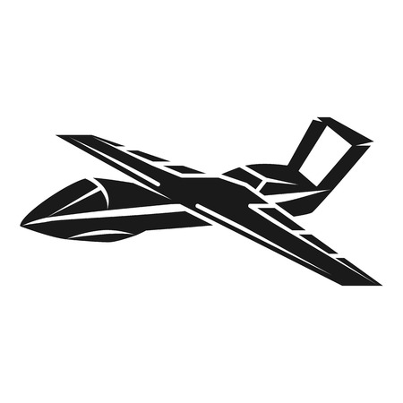 Unmanned aircraft icon. Simple illustration of unmanned aircraft icon for web design isolated on white background