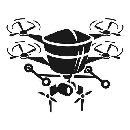 Meteo drone icon. Simple illustration of meteo drone icon for web design isolated on white background