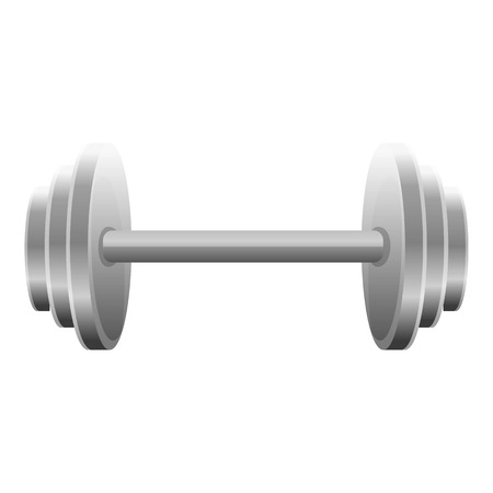 Dumbell icon. Cartoon of dumbell icon for web design isolated on white background
