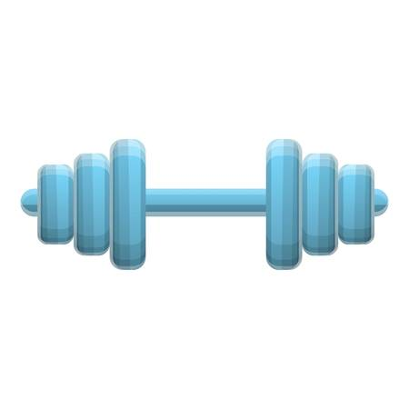 Fitness barbell icon. Cartoon of fitness barbell icon for web design isolated on white background