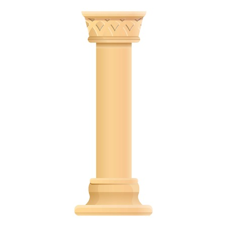 Antique column icon. Cartoon of antique column icon for web design isolated on white background Stock Photo