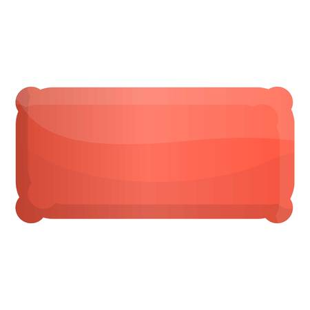 Inflated mattress icon. Cartoon of inflated mattress icon for web design isolated on white background Reklamní fotografie