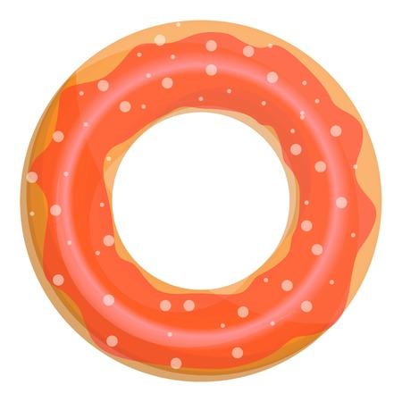 Donut swim ring icon. Cartoon of donut swim ring icon for web design isolated on white background Stock Photo