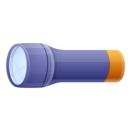 Blue flashlight icon. Cartoon of blue flashlight icon for web design isolated on white background 版權商用圖片
