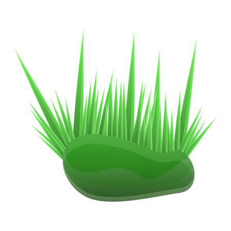 Aquarium grass icon. Cartoon of aquarium grass icon for web design isolated on white background