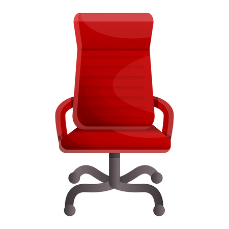 Red luxury chair icon. Cartoon of red luxury chair icon for web design isolated on white background