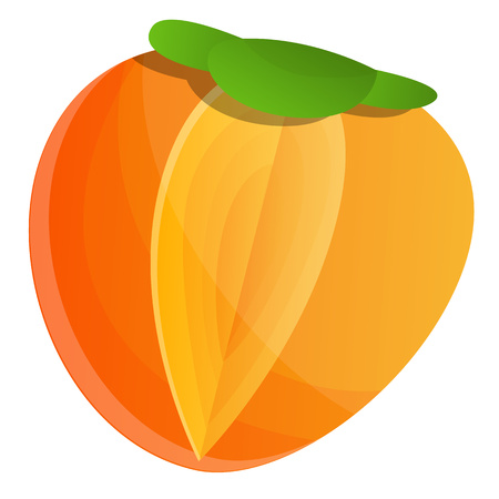 Fresh persimmon icon. Cartoon of fresh persimmon icon for web design isolated on white background Standard-Bild - 122548570