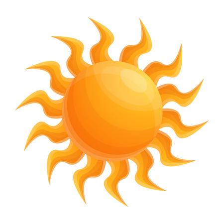 Summer sun icon. Cartoon of summer sun icon for web design isolated on white background Banco de Imagens