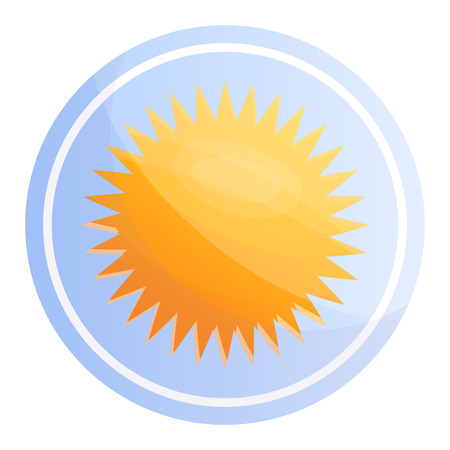 Sunblock cosmetic icon. Cartoon of sunblock cosmetic icon for web design isolated on white background