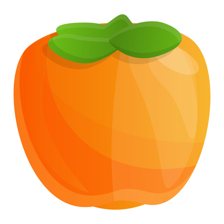 Exotic persimmon icon. Cartoon of exotic persimmon icon for web design isolated on white background Banque d'images - 122548586