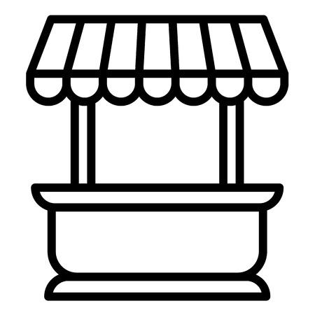 Street kiosk icon. Outline street kiosk icon for web design isolated on white background