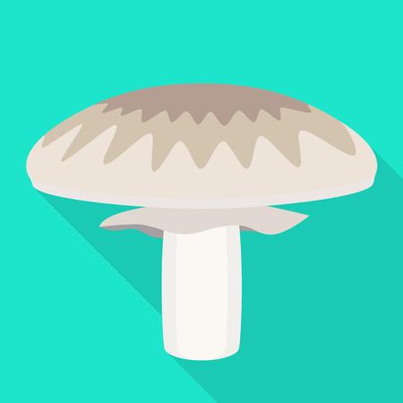 Champignon icon. Flat illustration of champignon icon for web design