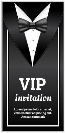 Elegant vip invitation banner. Realistic illustration of elegant vip invitation banner for web design