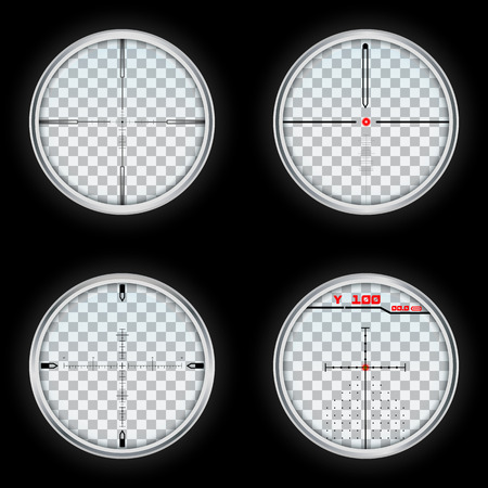 Crosshair icons set. Realistic set of crosshair icons for web design