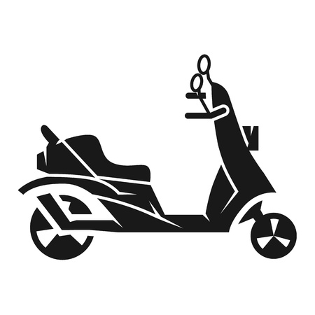 Scooter icon. Simple illustration of scooter icon for web design isolated on white background
