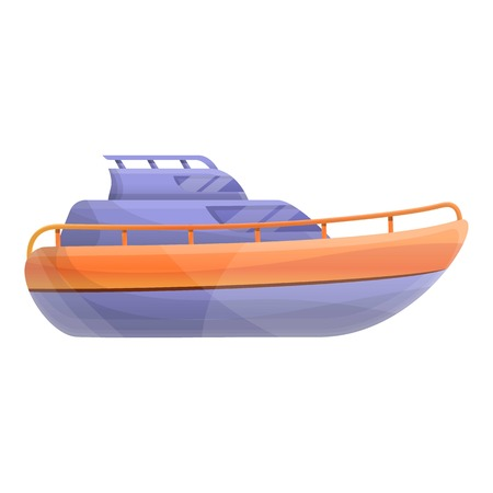 Motor yacht icon. Cartoon of motor yacht icon for web design isolated on white background