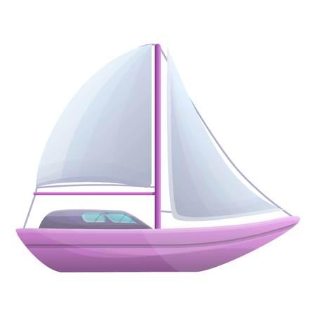 Sailboat icon. Cartoon of sailboat icon for web design isolated on white background 免版税图像