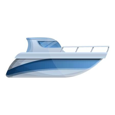 Motor boat icon. Cartoon of motor boat icon for web design isolated on white background Фото со стока