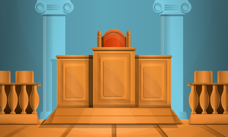Courthouse concept background. Cartoon illustration of courthouse concept background for web design