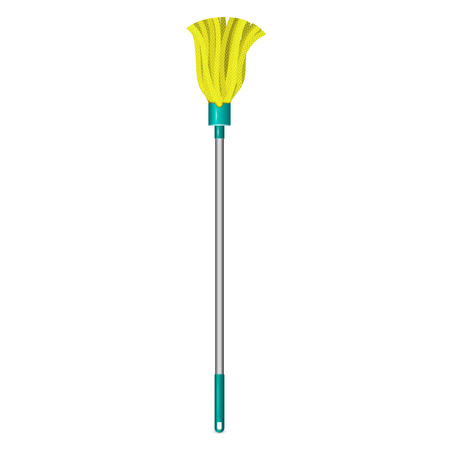 Broom mop icon. Realistic illustration of broom mop icon for web design isolated on white background Banco de Imagens