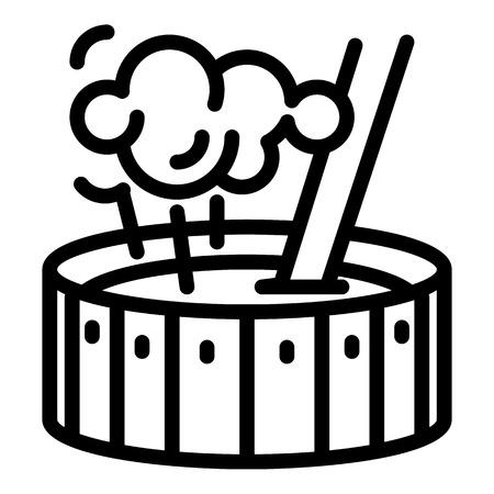 Blacksmith water pot icon. Outline blacksmith water pot icon for web design isolated on white background