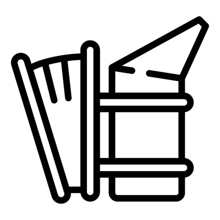 Apiary smoker icon. Outline apiary smoker icon for web design isolated on white background Stock Photo