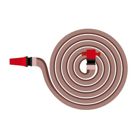 Fire hose icon. Flat illustration of fire hose icon for web design
