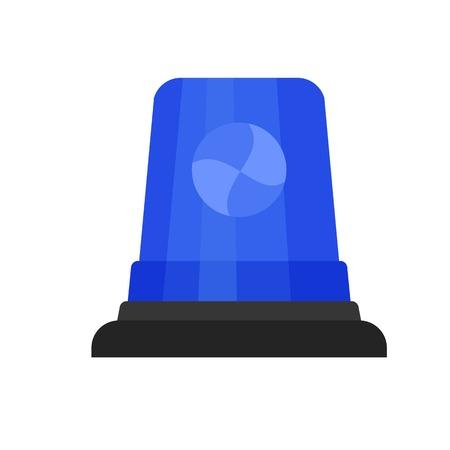Blue flasher icon. Flat illustration of blue flasher icon for web design