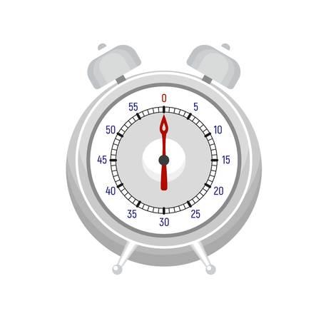 Alarm kitchen timer icon. Flat illustration of alarm kitchen timer icon for web design