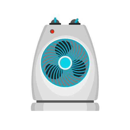 Fan heater icon. Flat illustration of fan heater icon for web design