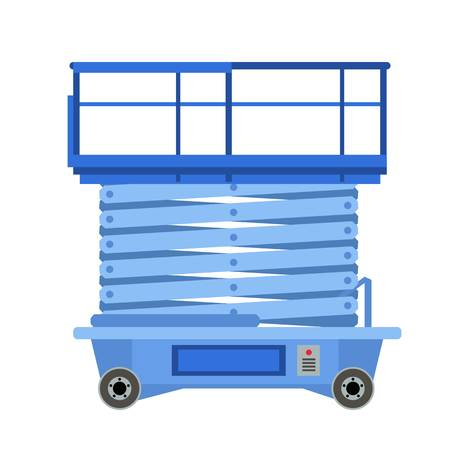 Lift stand icon. Flat illustration of lift stand icon for web design