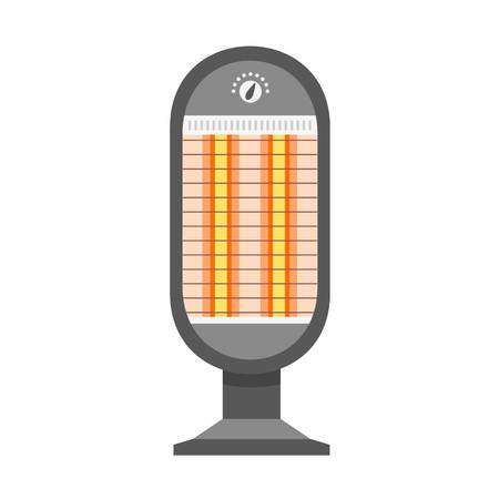 Lamp heater icon. Flat illustration of lamp heater icon for web design