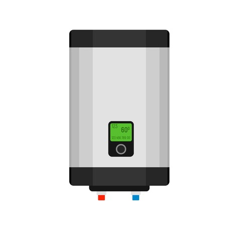 Gas boiler icon. Flat illustration of gas boiler icon for web design Stock Photo
