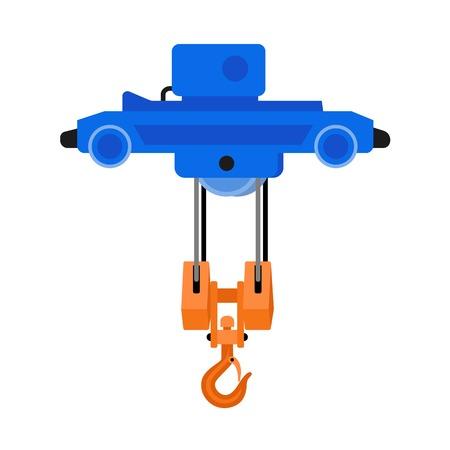 Motor hook crane icon. Flat illustration of motor hook crane icon for web design 写真素材