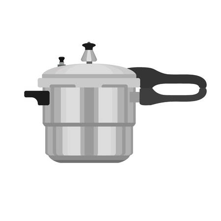 Metal pressure cooker icon. Flat illustration of metal pressure cooker icon for web design Reklamní fotografie