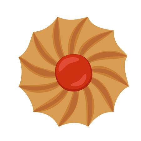 Swirl biscuit icon. Flat illustration of swirl biscuit icon for web design