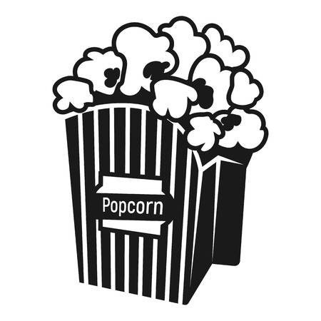 Popcorn icon. Simple illustration of popcorn icon for web design isolated on white background Stock fotó