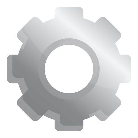 Gear cog icon. Cartoon of gear cog icon for web design isolated on white background