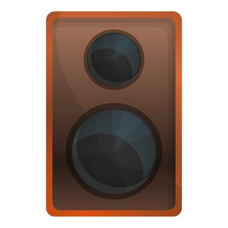 Wood speaker icon. Cartoon of wood speaker icon for web design isolated on white background Reklamní fotografie