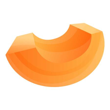 Cutted papaya icon. Cartoon of cutted papaya icon for web design isolated on white background