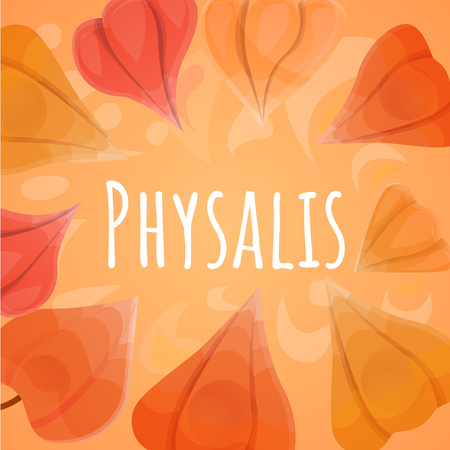 Ground physalis concept background. Cartoon illustration of ground physalis concept background for web design Imagens - 122712910