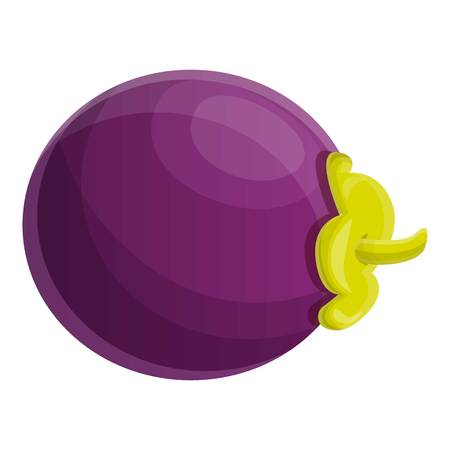 Vitamin mangosteen icon. Cartoon of vitamin mangosteen icon for web design isolated on white background