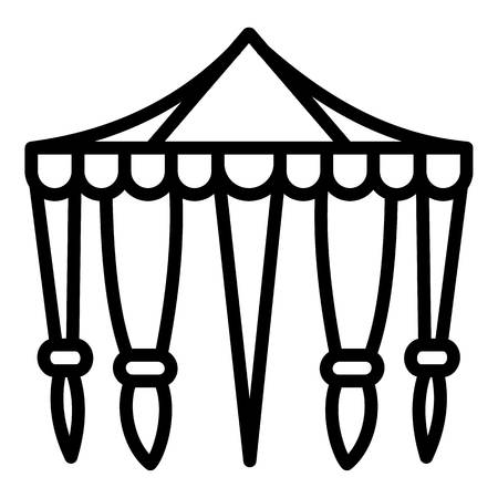 Circus tent icon. Outline circus tent icon for web design isolated on white background